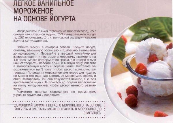 Рецепт низкокалорийного мороженого в домашних условиях 128