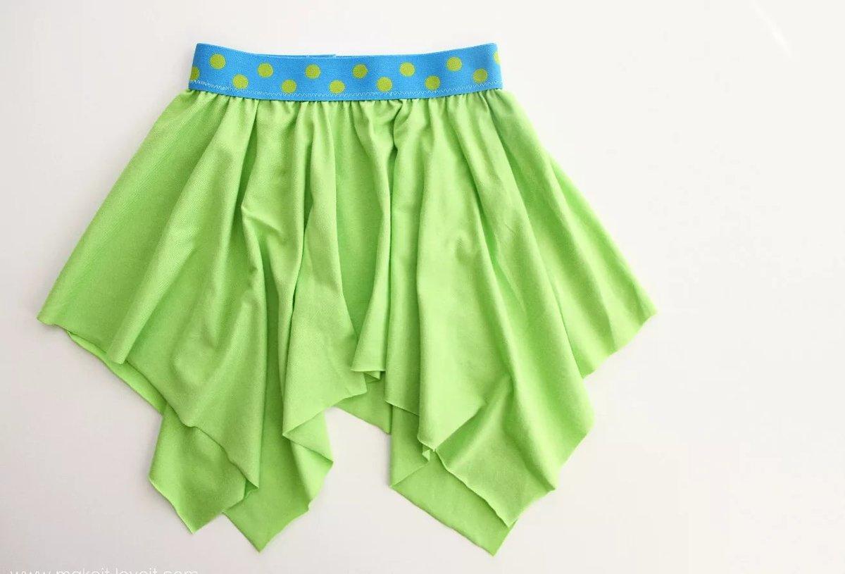Пошив юбки на резинке