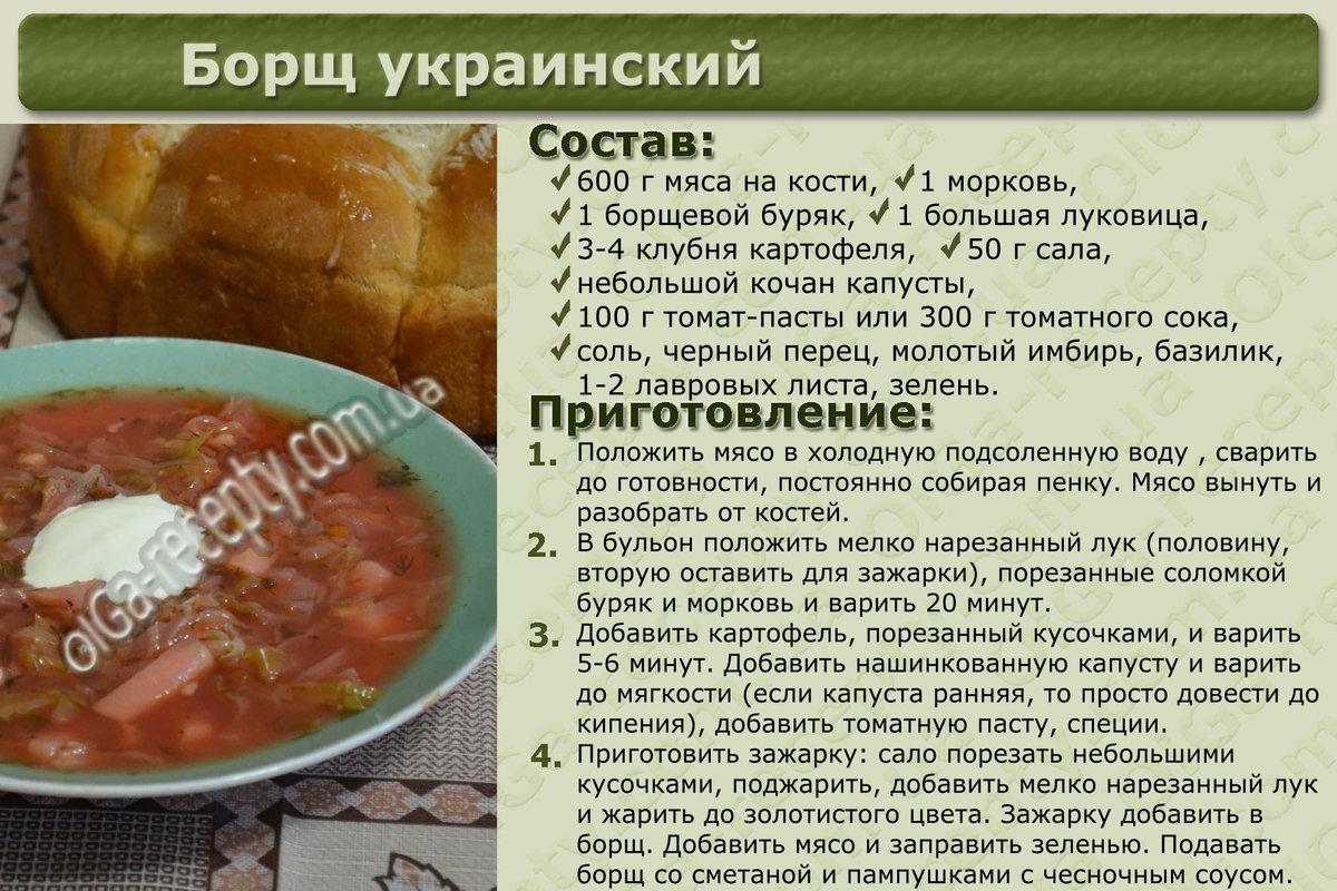 Борщ обычный пошаговый рецепт