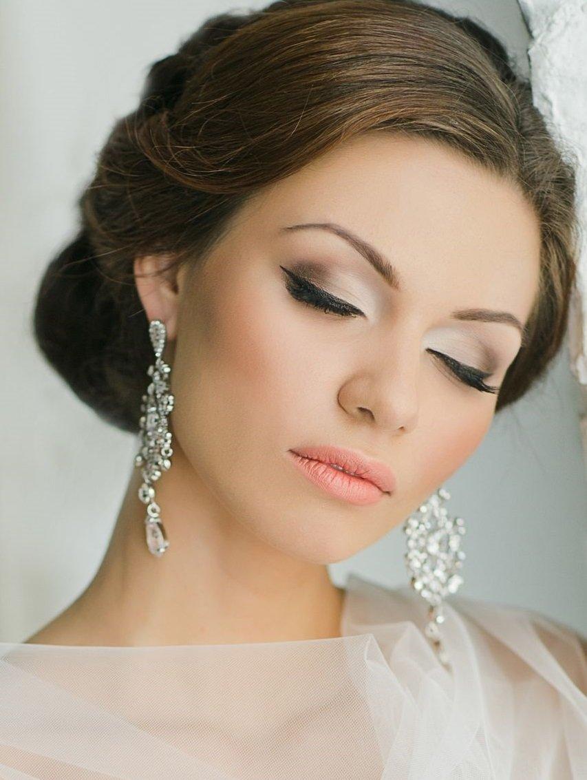Красивый макияж глаз невесты