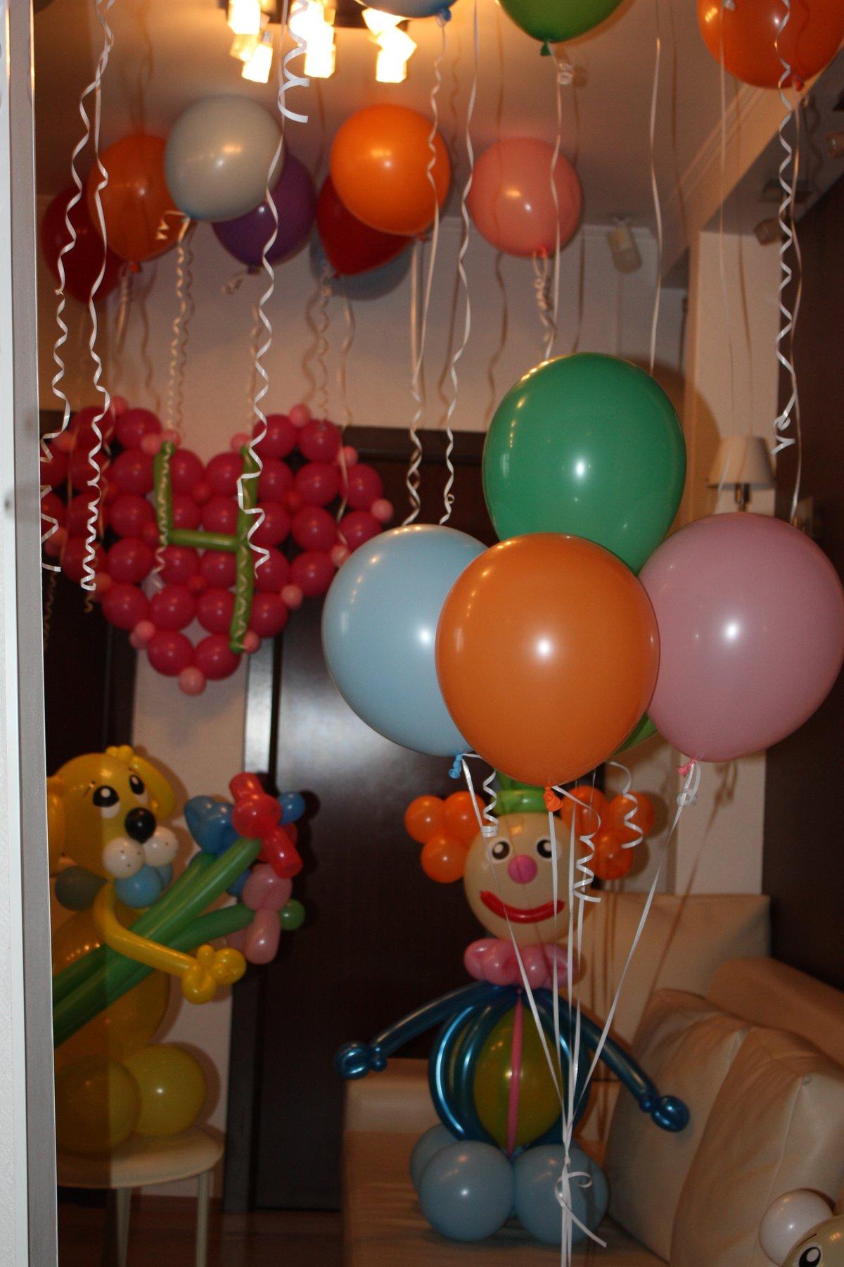 Украшения шарами к дню рождения фото