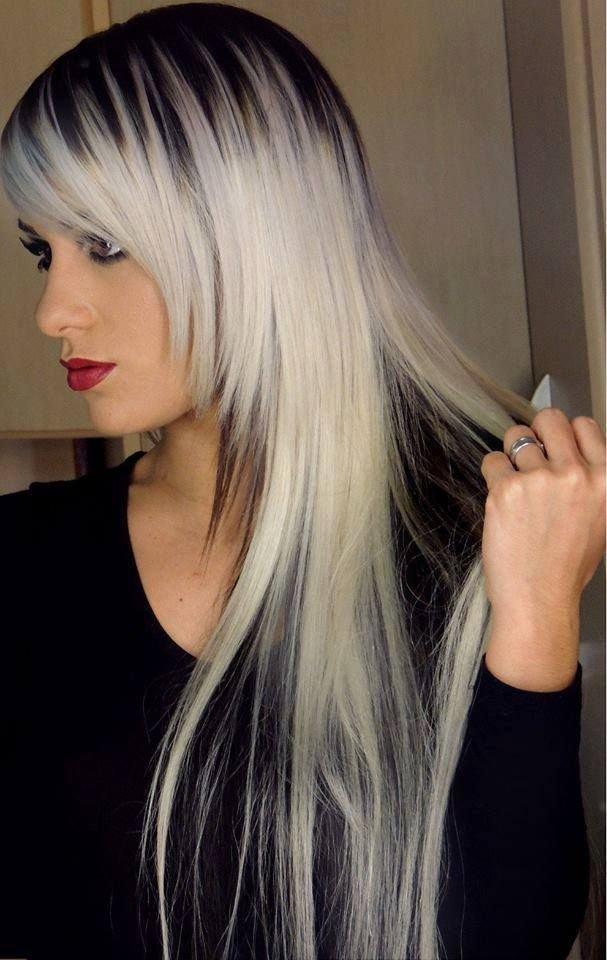 Как покрасить белые волосы в темный цвет в домашних условиях
