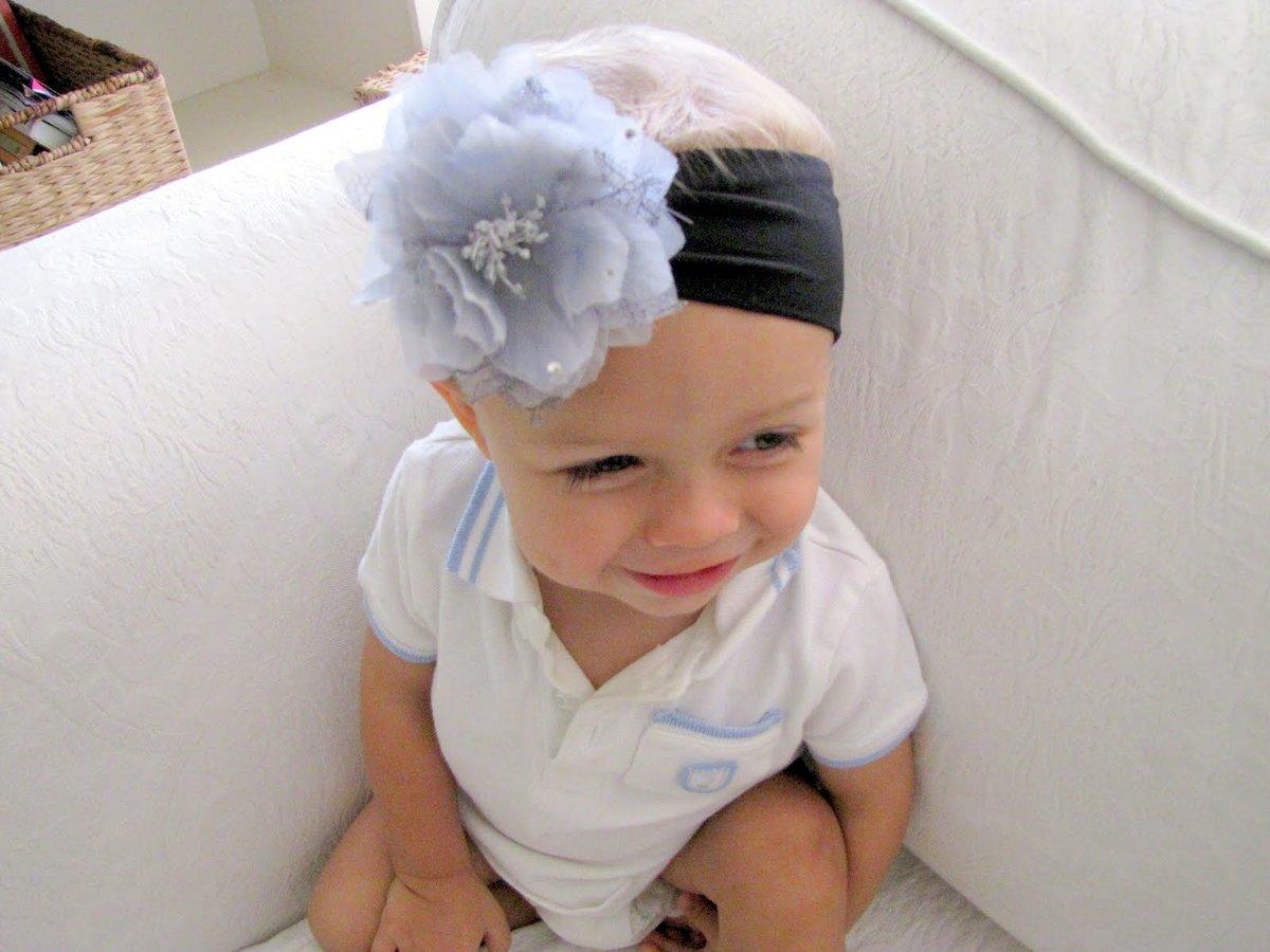 Детская повязка на голову своими руками 74