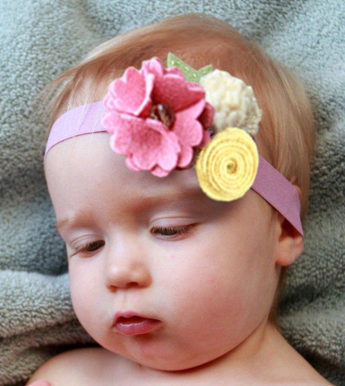Повязка из фетра на голову для девочки своими руками из 75
