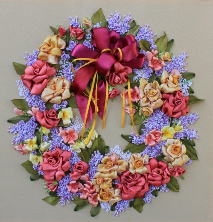 Вышивка атласными лентами не цветы 396