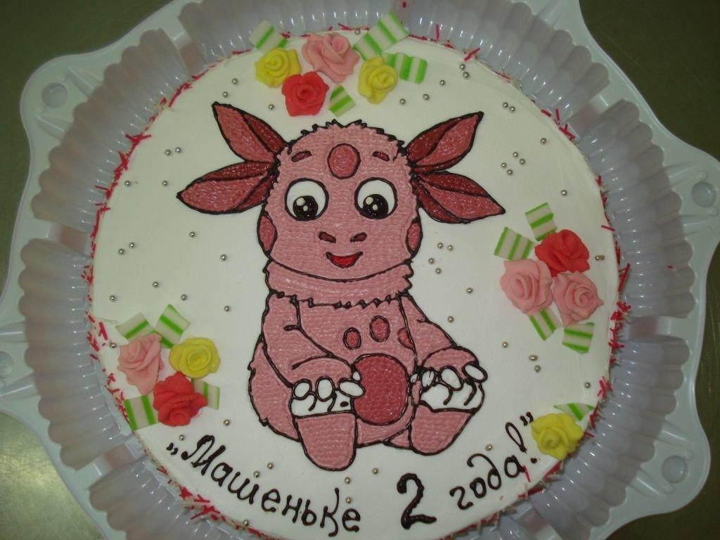 Торт с рисунком своими руками 95