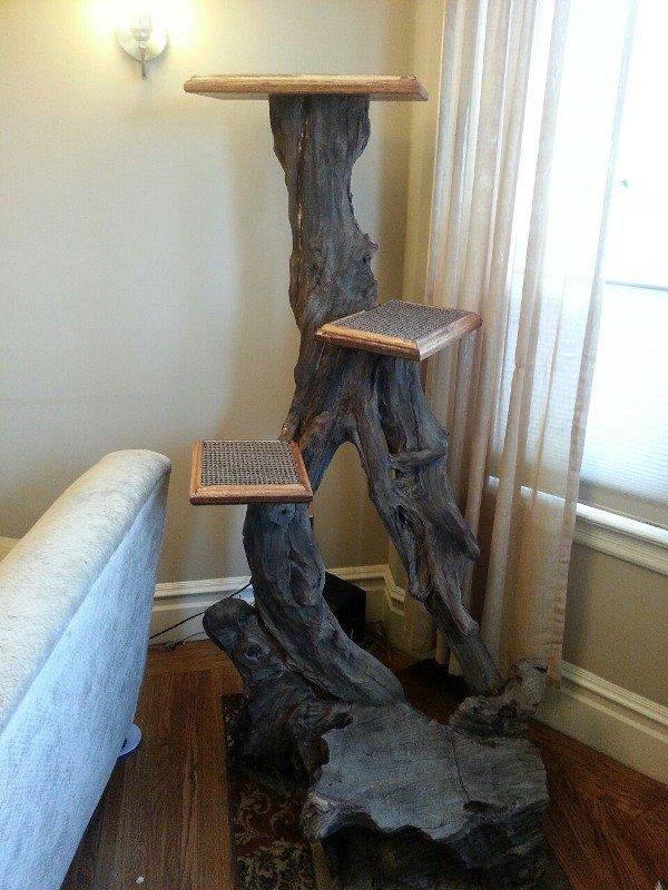 Своими руками поделки из дерева для кошек 62