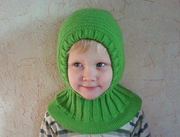 Вязание детской шапочки с воротником