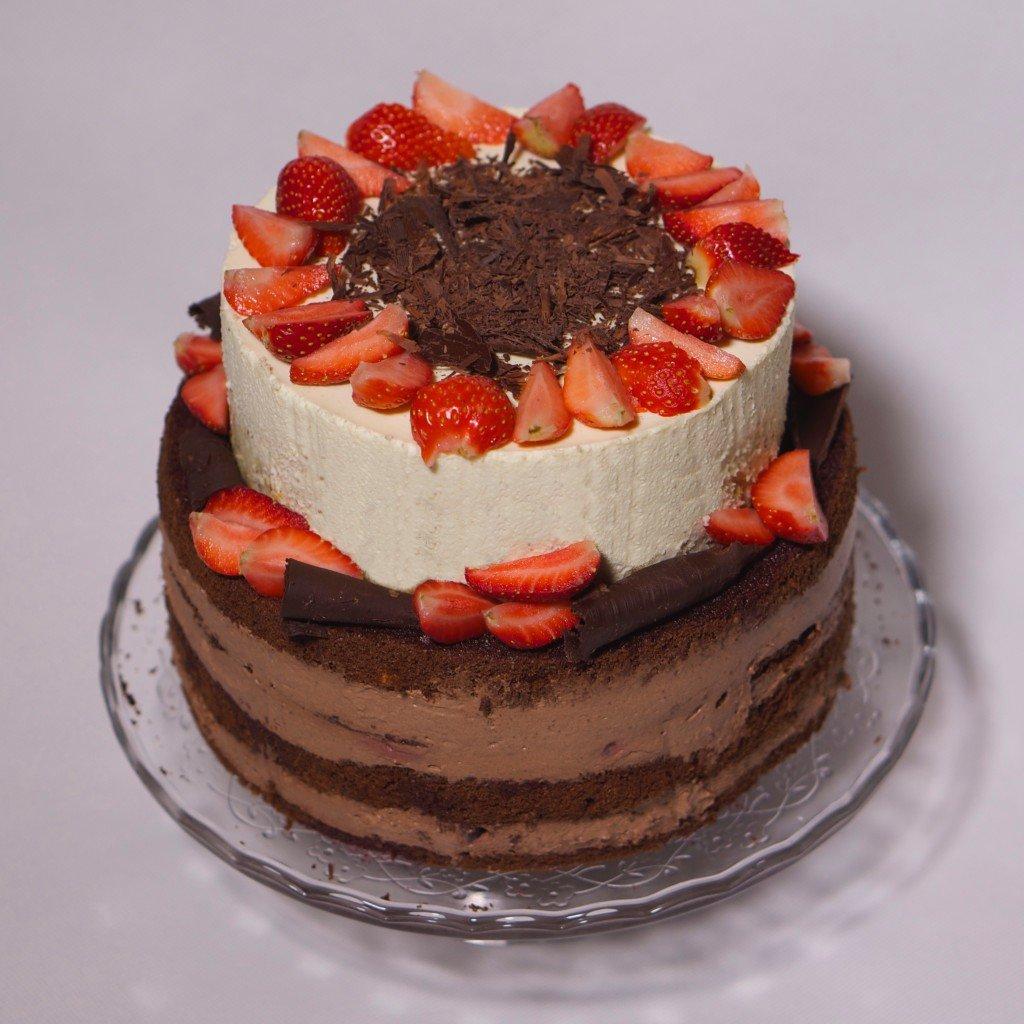 Рецепт двухъярусного торта с фото
