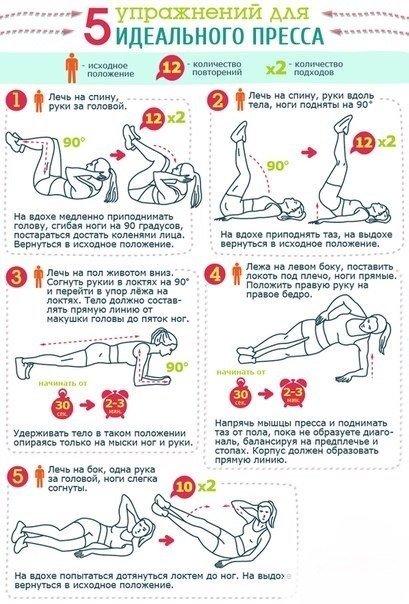 Как быстро похудеть упражнений в картинках