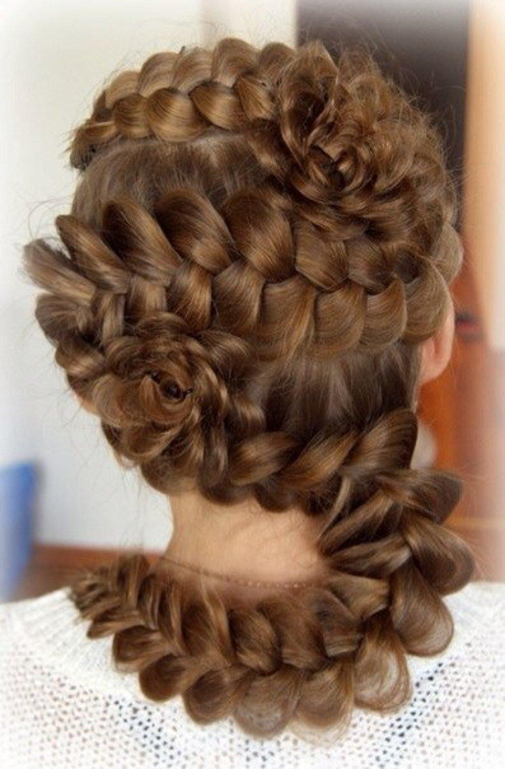 Прически фото плетение кос на