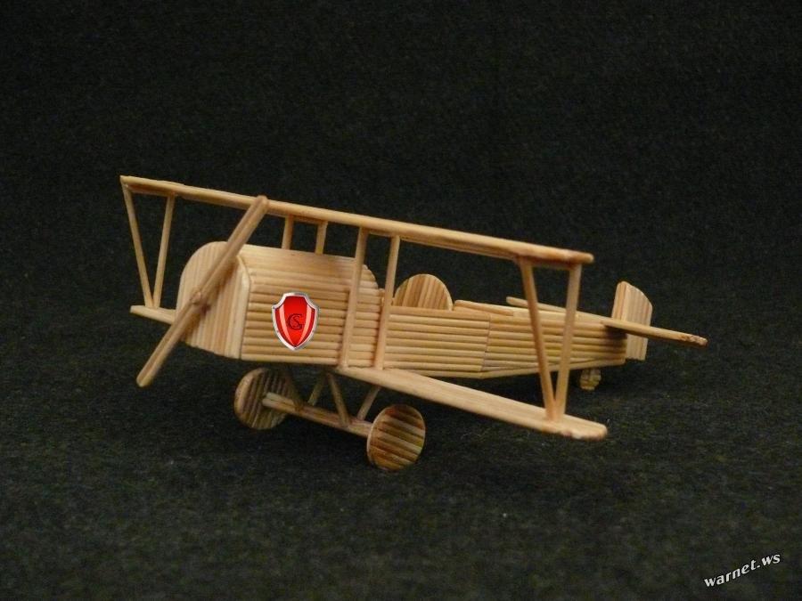 Самолет из шпажек » Дом Спички - поделки из спичек и не только