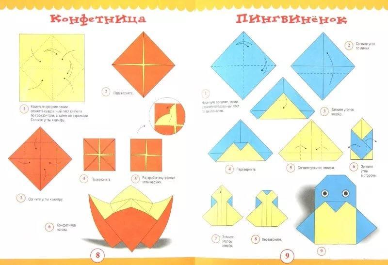Детское оригами для детей от 4 лет