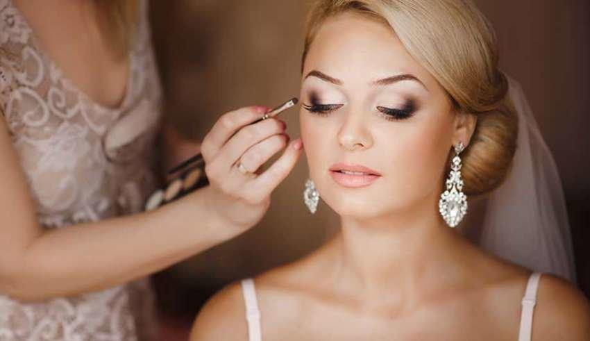 Фото макияжа невест с голубыми глазами