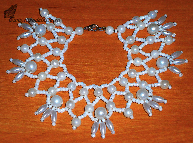 Ожерелье из бусин своими руками мастер класс фото