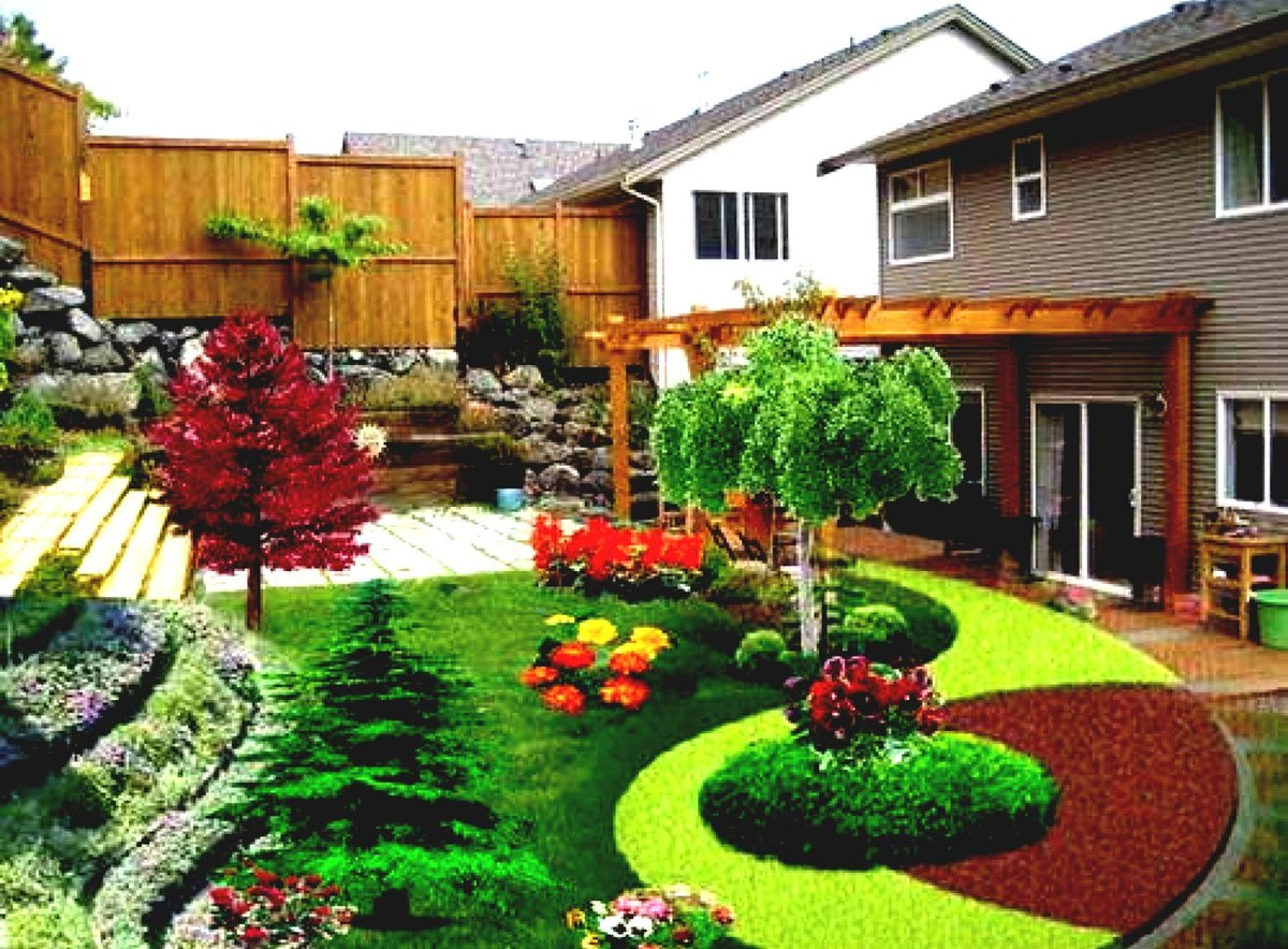 Дача озеленение проект ландшафтный дизайн