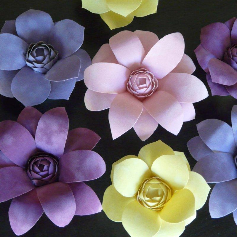 Фото объемные цветы своими руками