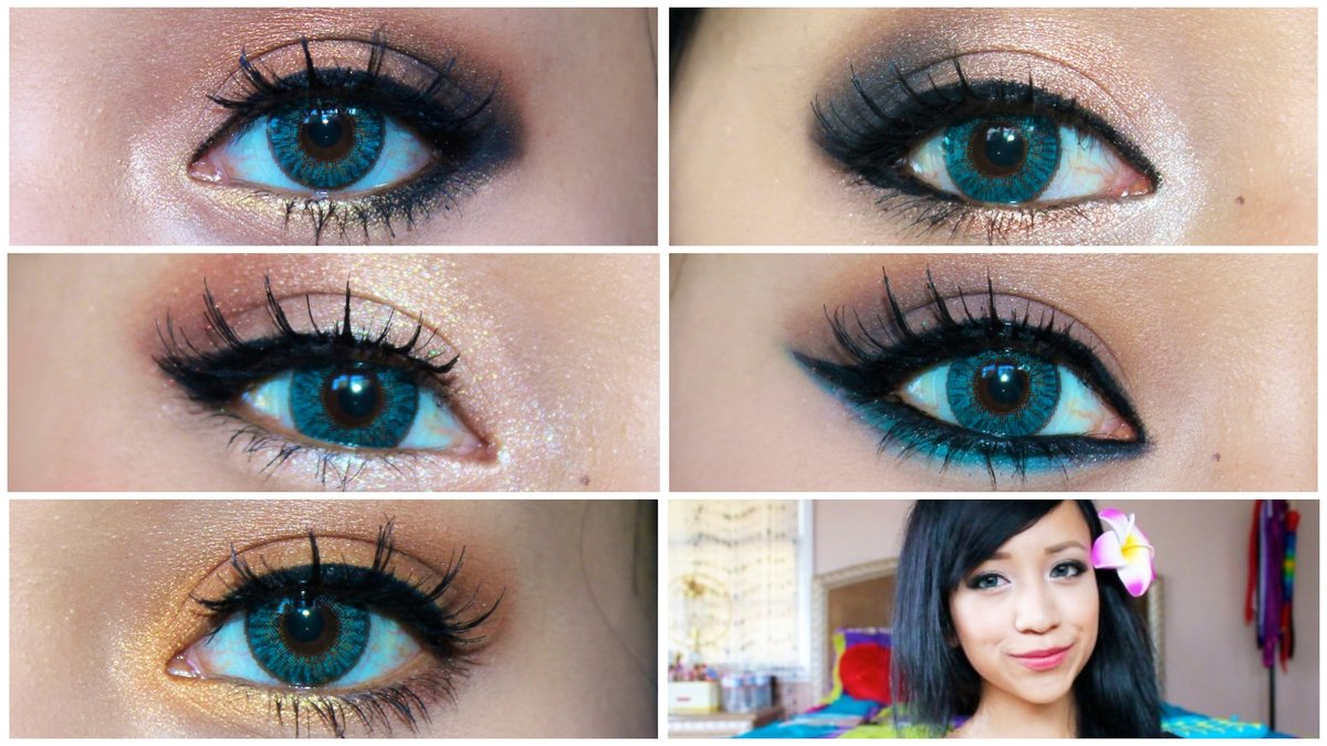 Простой вечерний макияж для голубых глаз