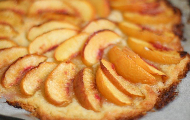 Быстрый персиковый пирог рецепт