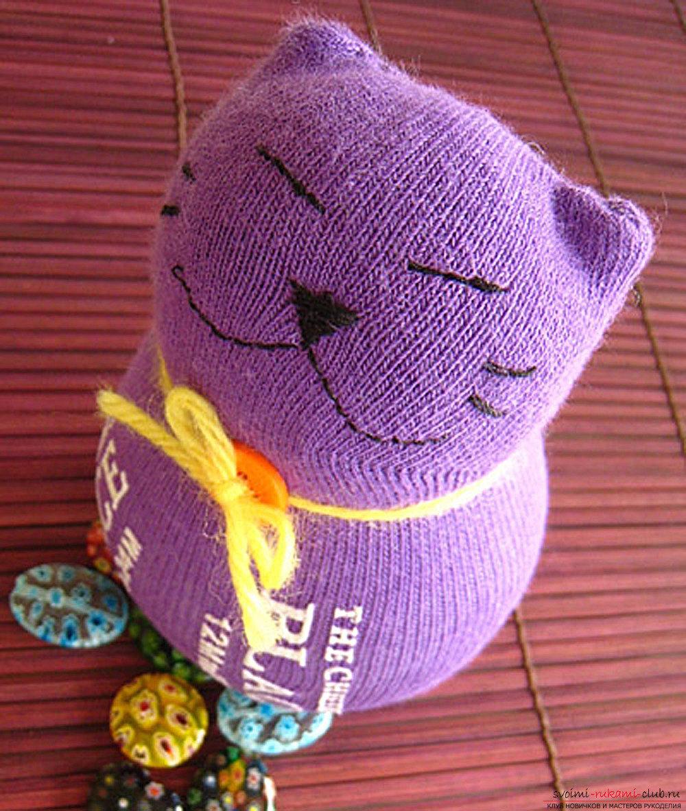 Поделка из носка своими руками котенок 87