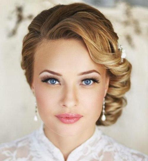 Макияж на свадьбу для блондинок с карими глазами 153