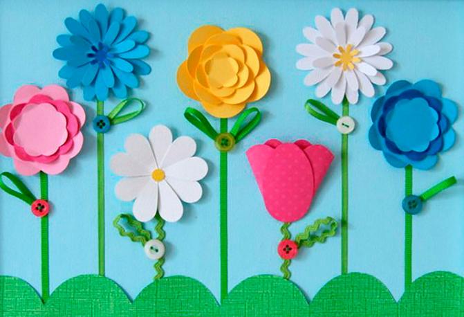Цветы своими руками 4 года 58