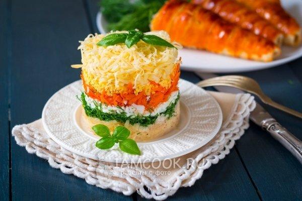 Салат французский рецепт с с яблоком и