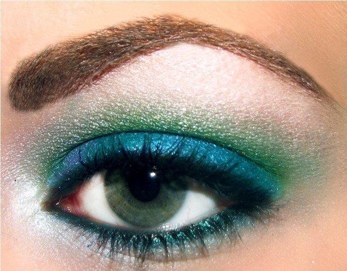 Цвета макияжа зеленых глаз