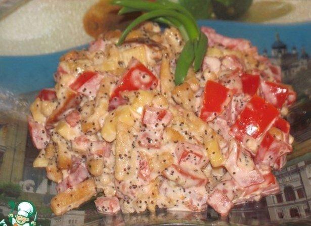Приготовить салат из копченой курицы и помидор курицы