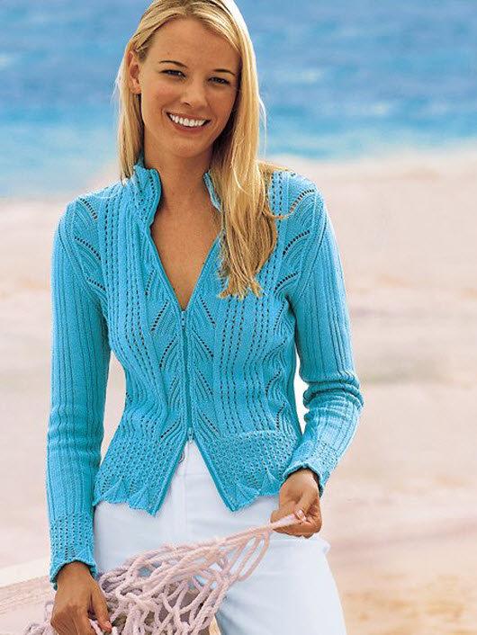 Вязание красивых летних кофт