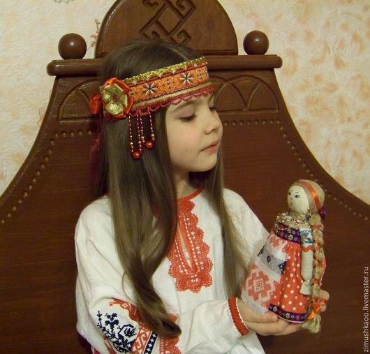Повязка на голову в русском народном стиле своими руками 67