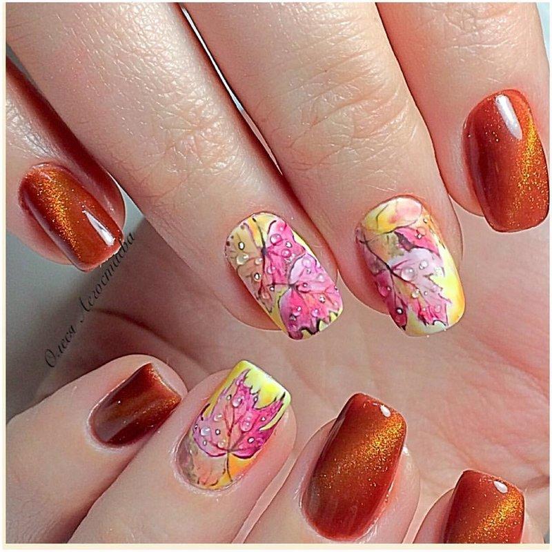 Шилак ногтей с рисунками на короткие ногти 2017 осень