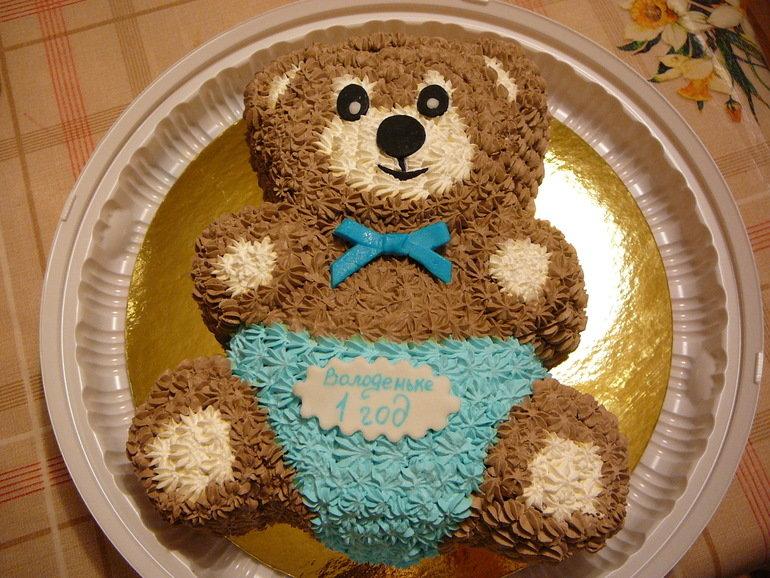 Как сделать медведя торт
