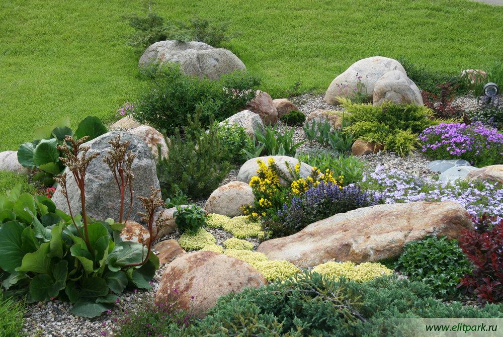 Цветники и клумбы с камнями своими руками 1106