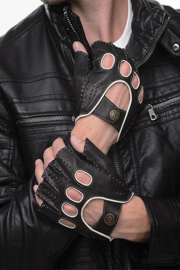 Как сделать перчатки без пальцев своими руками мужские 84