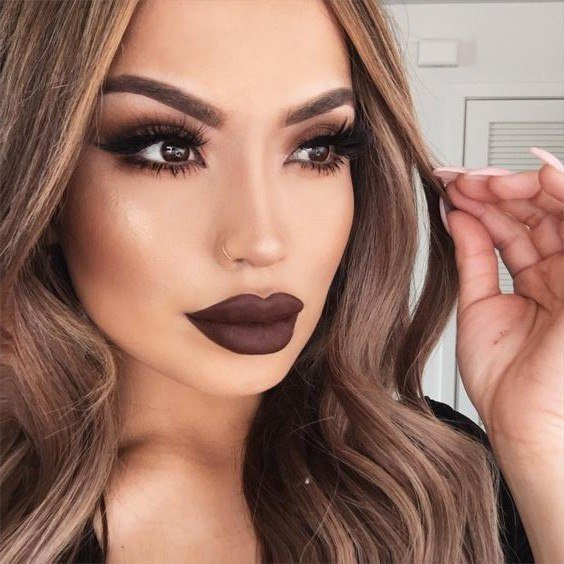 Шоколадный макияж глаз