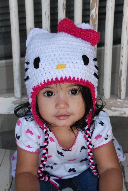 Вязание детских шапочек 34