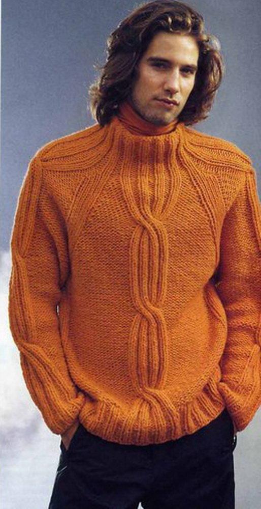 Вязаные мужские свитера своими руками