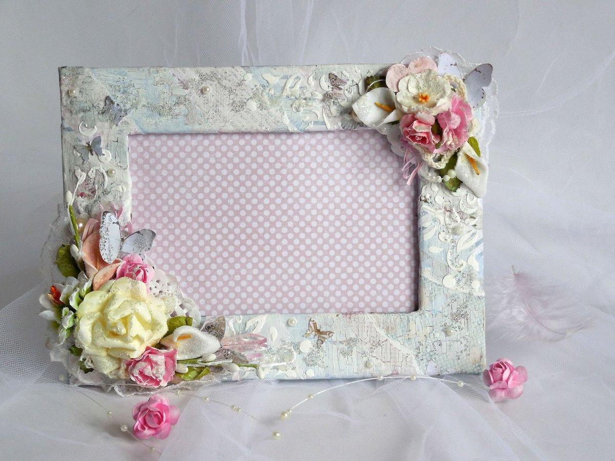 Украсить рамку для свадебного фото своими руками