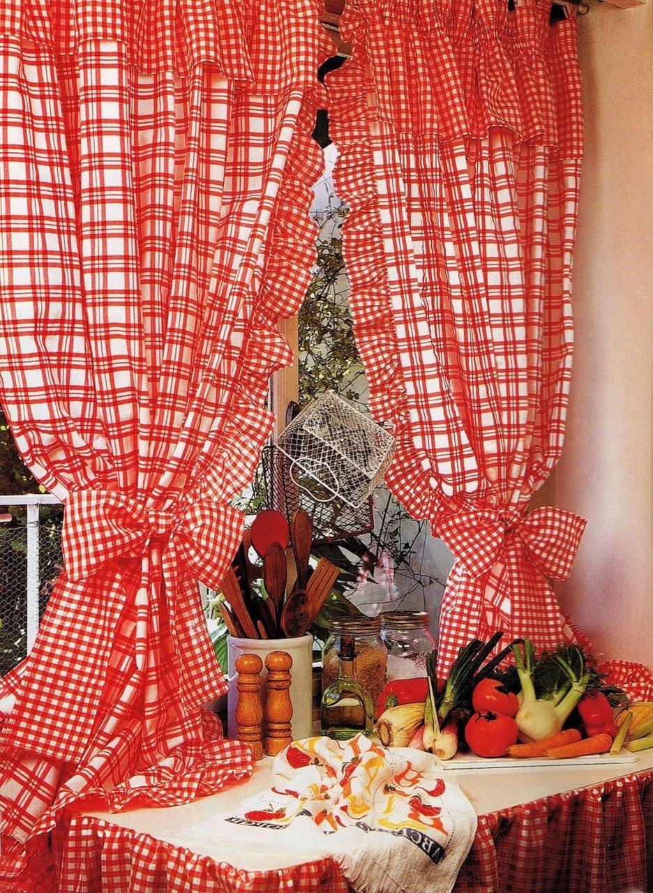 Шить шторы своими руками на кухню