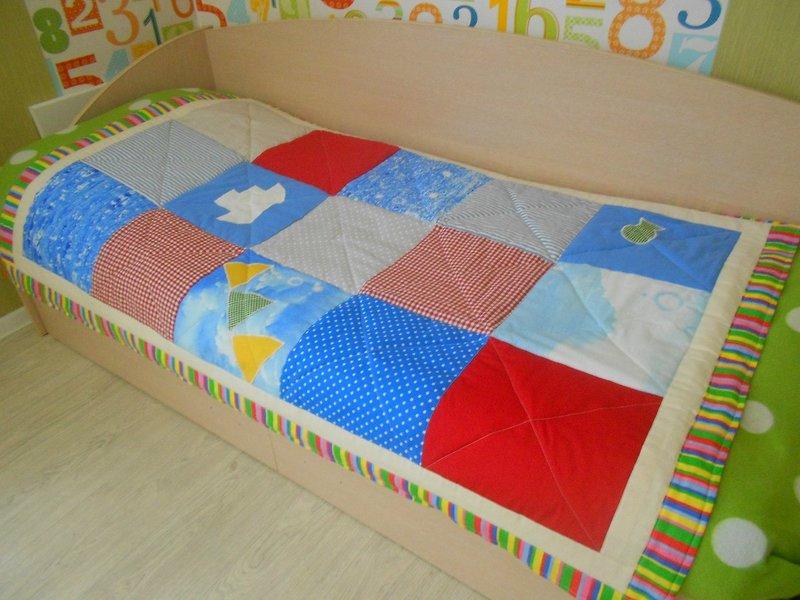 Одеяло на кровать своими руками