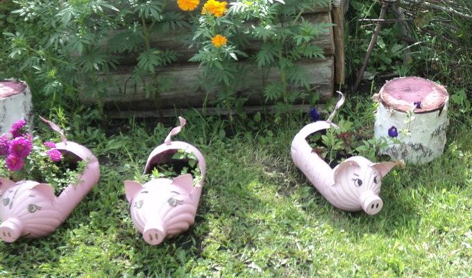 Как сделать садовые украшения своими руками 17