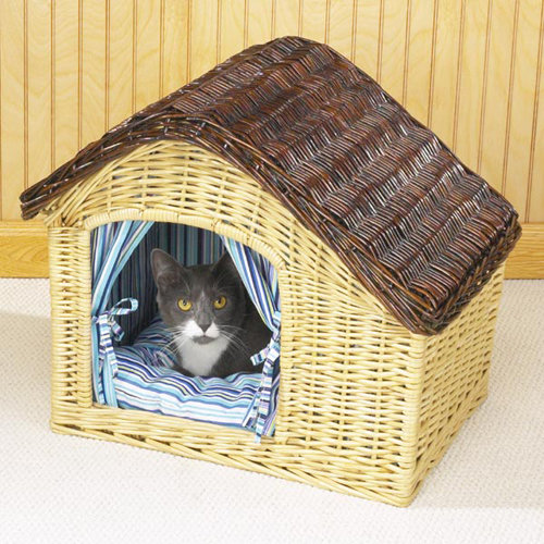 Домик для кошки из газетных трубочек своими руками пошаговая инструкция 71