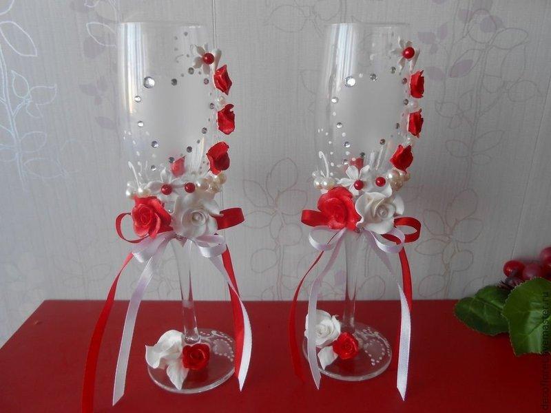 Свадебный декор своими руками мастер класс фужеры