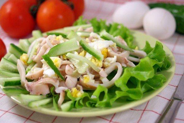 Кальмары простые салаты рецепты приготовления 186