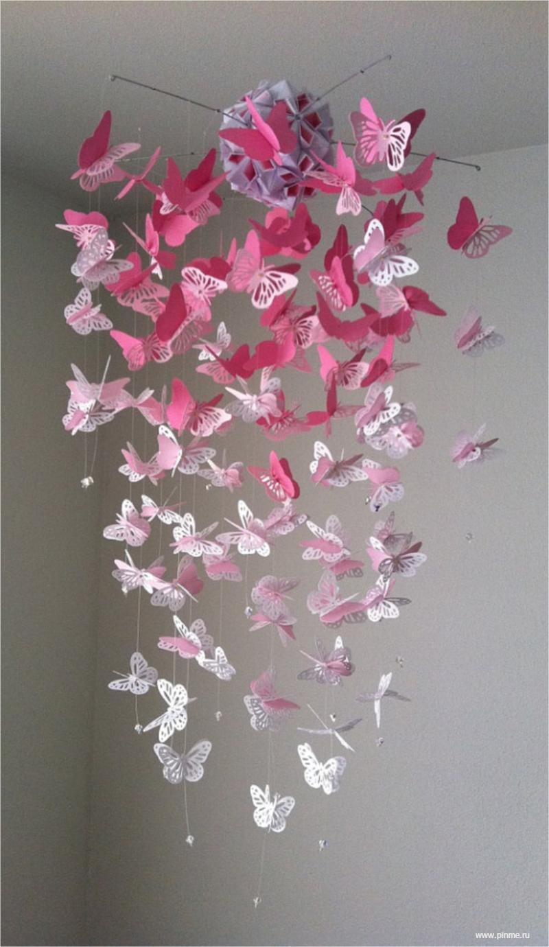 Как сделать бабочку на потолке из гипсокартона 84