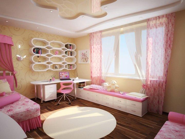 Фото дизайн детской для девочек трех