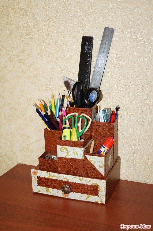 Органайзер на письменный стол своими руками 12