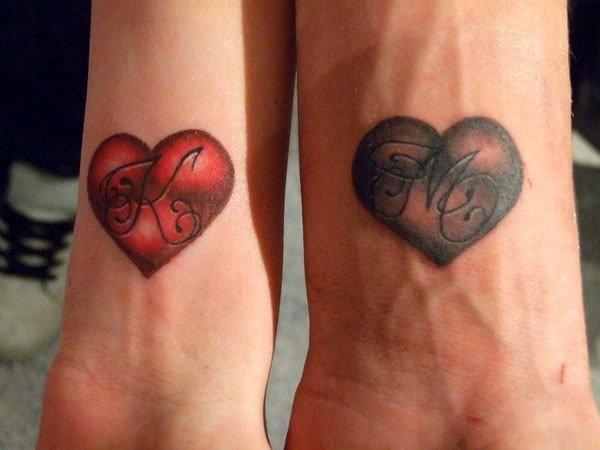 Парные тату для влюбленных эскизы