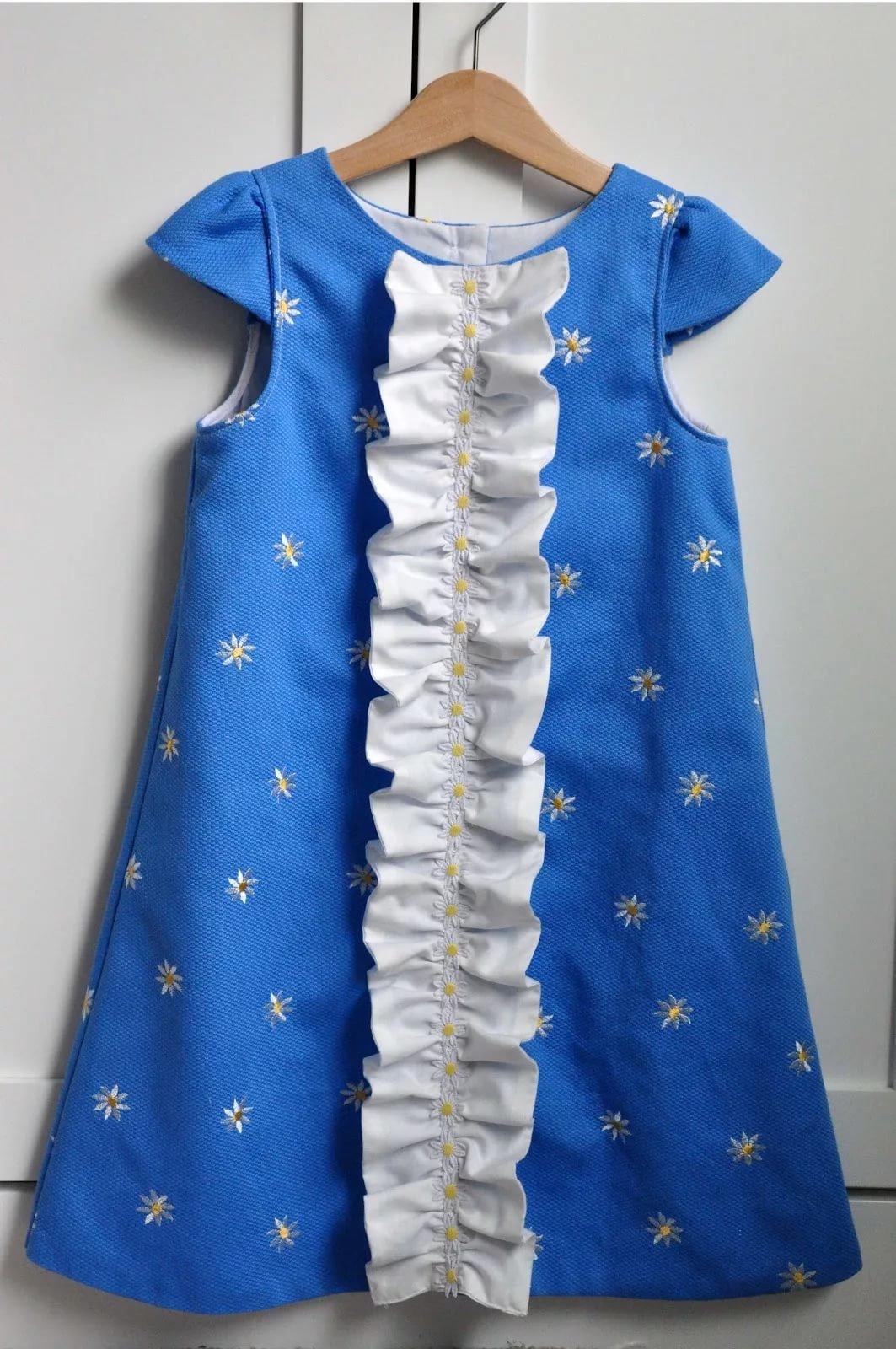Детские платья сшить самим быстро и просто. Часть 1 5